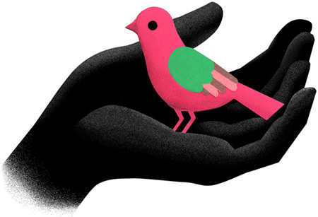 consejo superior de deporte, españa, log, bird, hand childhood, protection, illustration, silja goetz, silja gotz