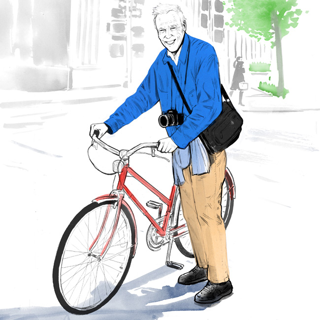 bill cunningham new york times, photographer, portrait, illustration, silja goetz